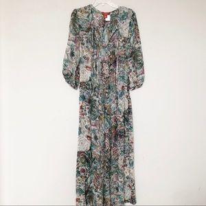 Sundance Women's Silk Floral Maxi Dress size 10